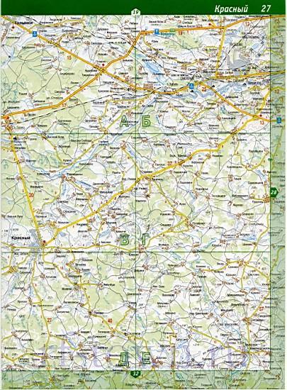Карта Смоленского района.